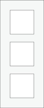 KOOPJE: Niko 154-76300 Afdekplaat (60mm) 3-voudig verticaal, white steel